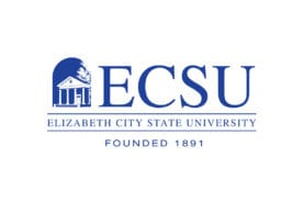 "Elizabeth City State University Logo: ""ECSU, Elizabeth City State University, Founded 1891"""