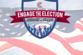 Engage the Election seal over the image of a US Flag