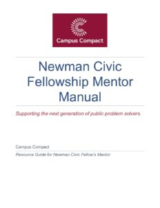 NCF 2019 Mentor's Manual - Campus Compact
